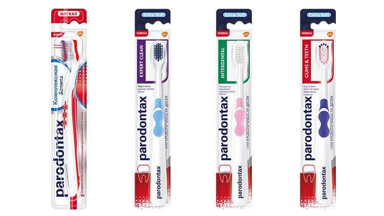 Зубная щетка parodontax Gums&Teeth при кровоточивости десен для поддержания здоровья десен для ежедневного применения