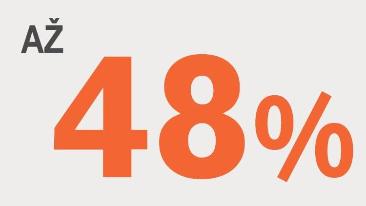 Až 48 % infografika