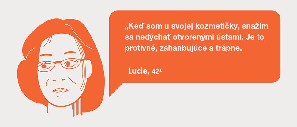 Lucia má halitózu