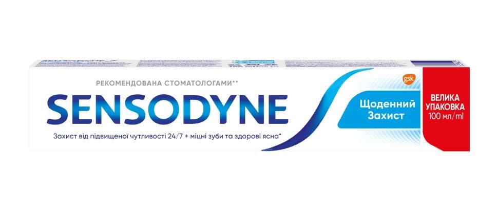 Пекшот зубної пасти Сенсодин Щоденний Захист
