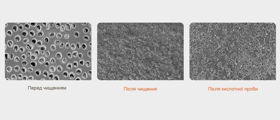 РЕМ (растрова електронна мікроскопія) зображення поверхні дентину