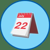 Kalender rundes Symbol