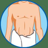 Mann in Handtuch Symbol