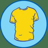 Gelbes T-Shirt Symbol