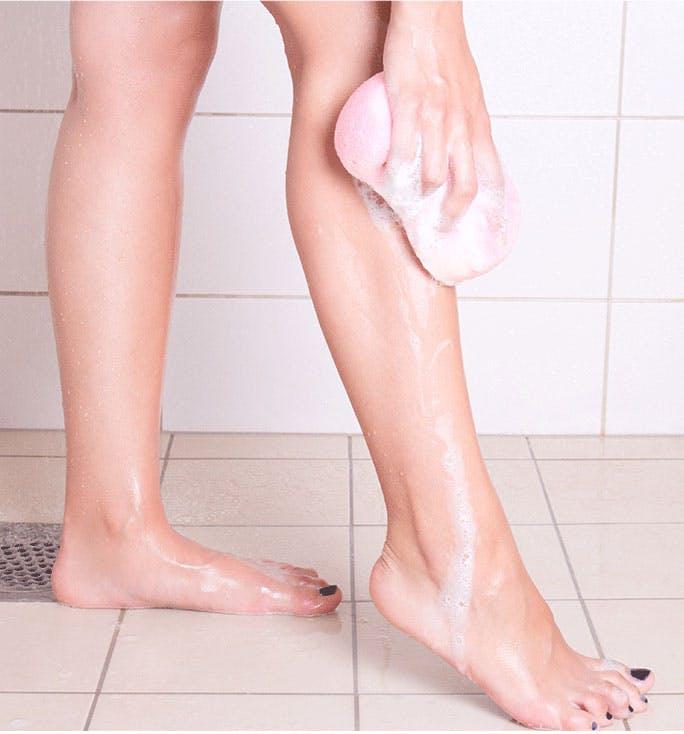 Washing Legs in Shower