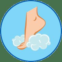 거품이 있는 발 - 라미실