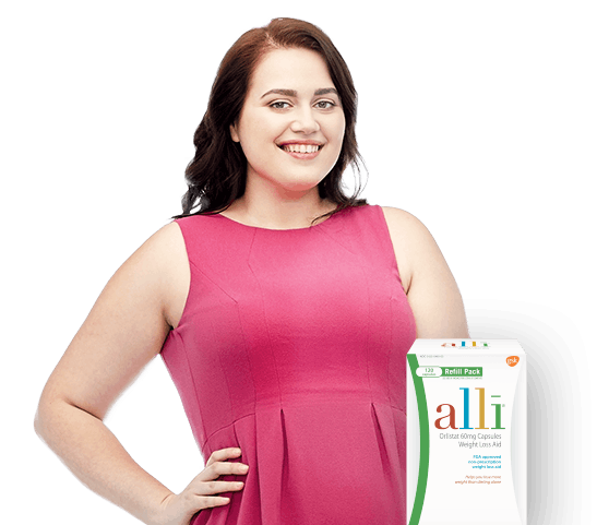 Woman With alli Product
