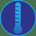 Icône d'un thermomètre pour représenter la fièvre