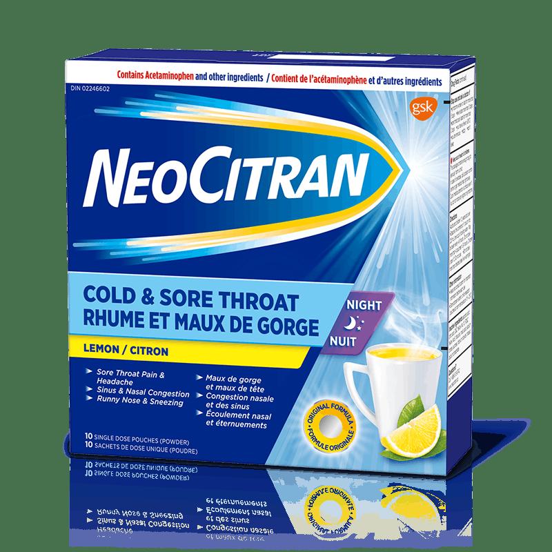 NeoCitran Rhume et Maux de gorge Nuit