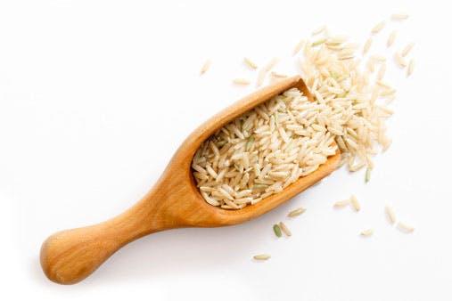 Rice in a spatula