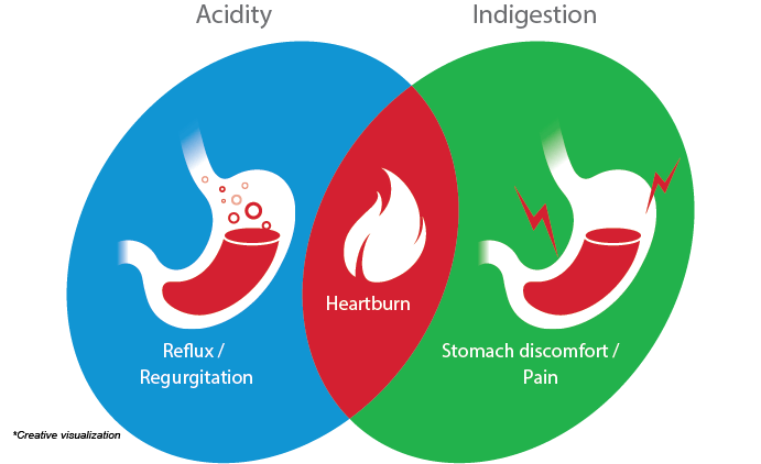 Overlap Of Symptoms In Acidity And Indigestion