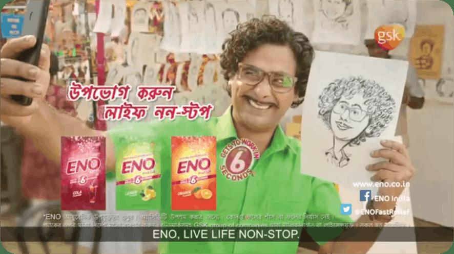 Eno 'Jiyo LifeNon Stop' campaign with Eno product variants