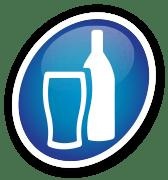 Ícone de um copo de vinho