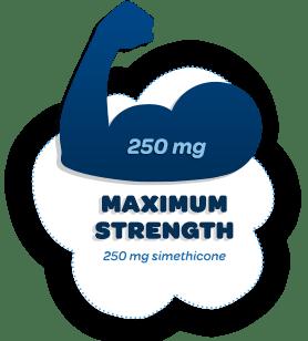 Maximum Strength 250 mg simethicone