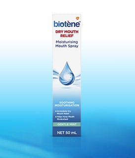 Box of Biotène Dry Mouth Moisturizing Spray