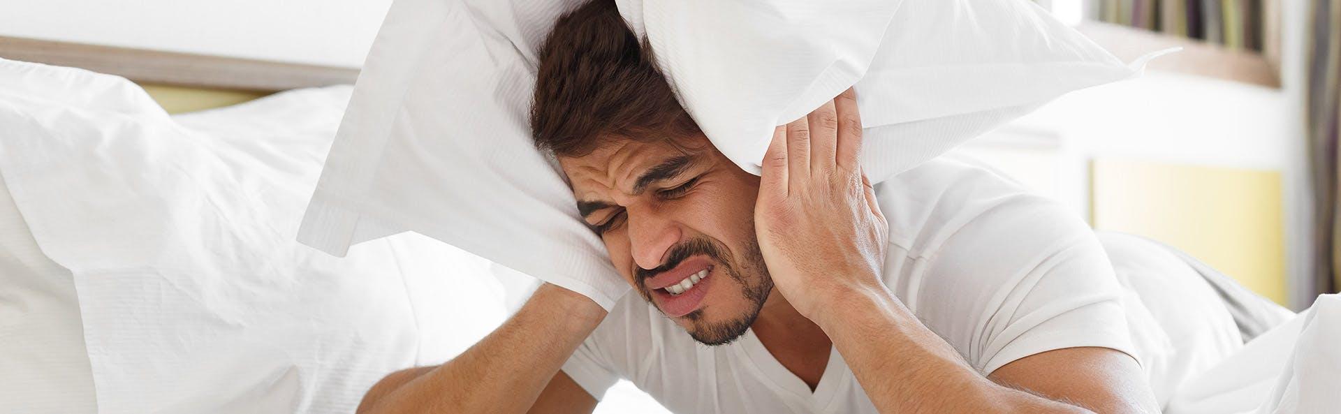 A man suffering from a headache
