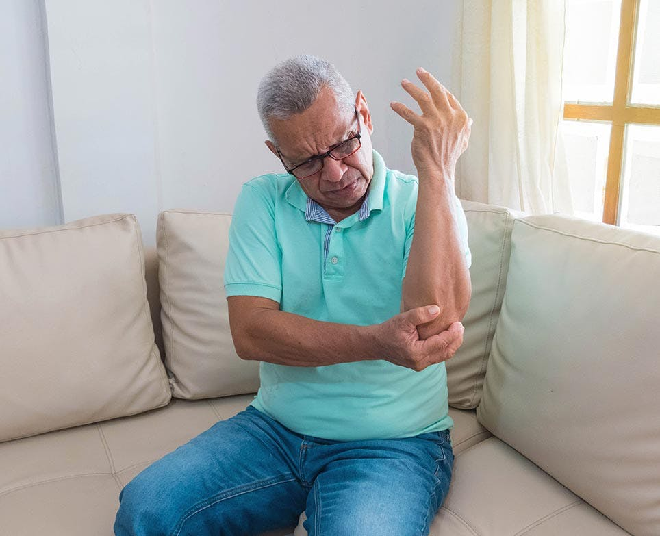 A man dealing with joint pain