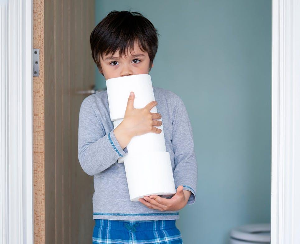 A boy suffering from diarrhoea