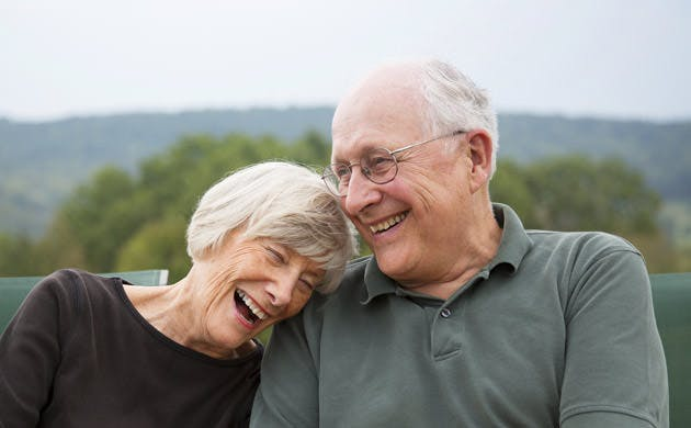 Senior Couple Laughing Together