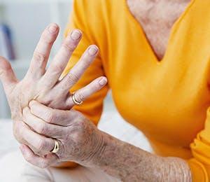 Representación del dolor de manos.
