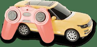 Billede af legetøjsbil med fjernbetjening