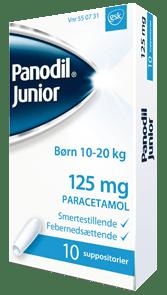 Panodil Junior Stikpiller 125 milligram