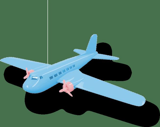 Billede af flyvemaskine legetøj