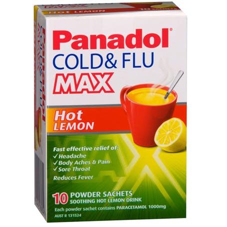 Panadol Cold and Flu MAX Hot Lemon