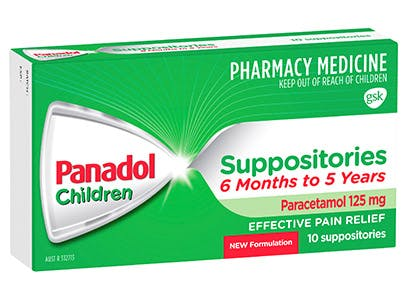 Panadol Suppositories 6months-5years