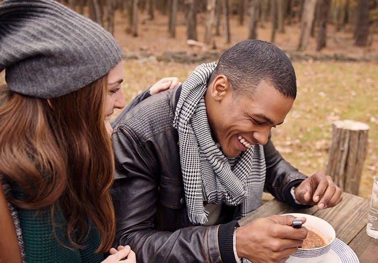 Couple At Fall Picnic