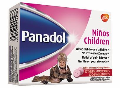 Panadol Niños Tabletas Masticables