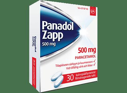 Panadol Zapp 500 mg -kipulääke aikuisille