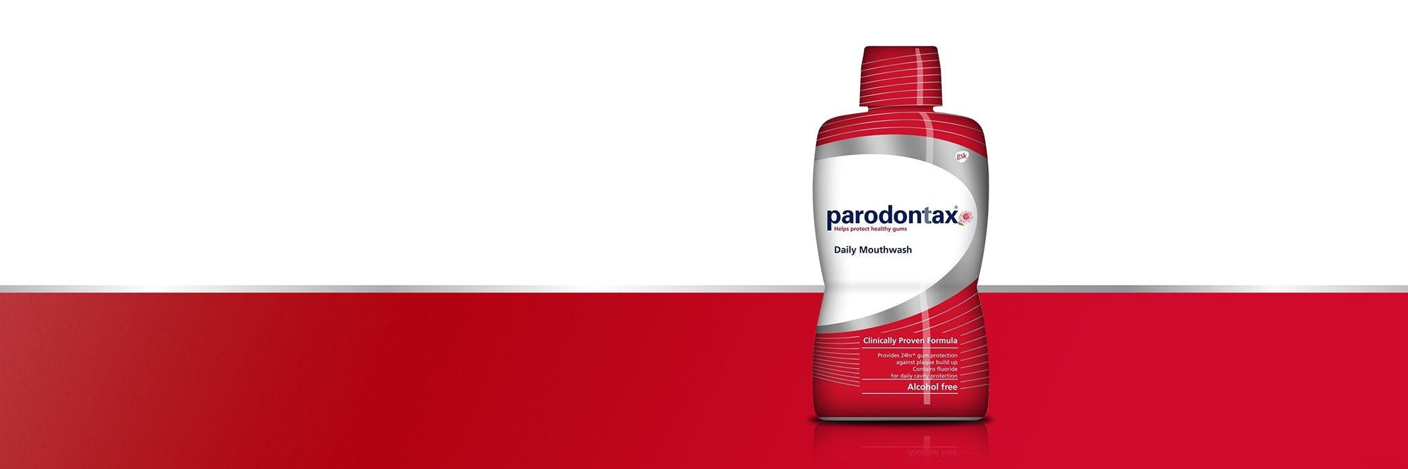 parodontax Daily mouthwash product range