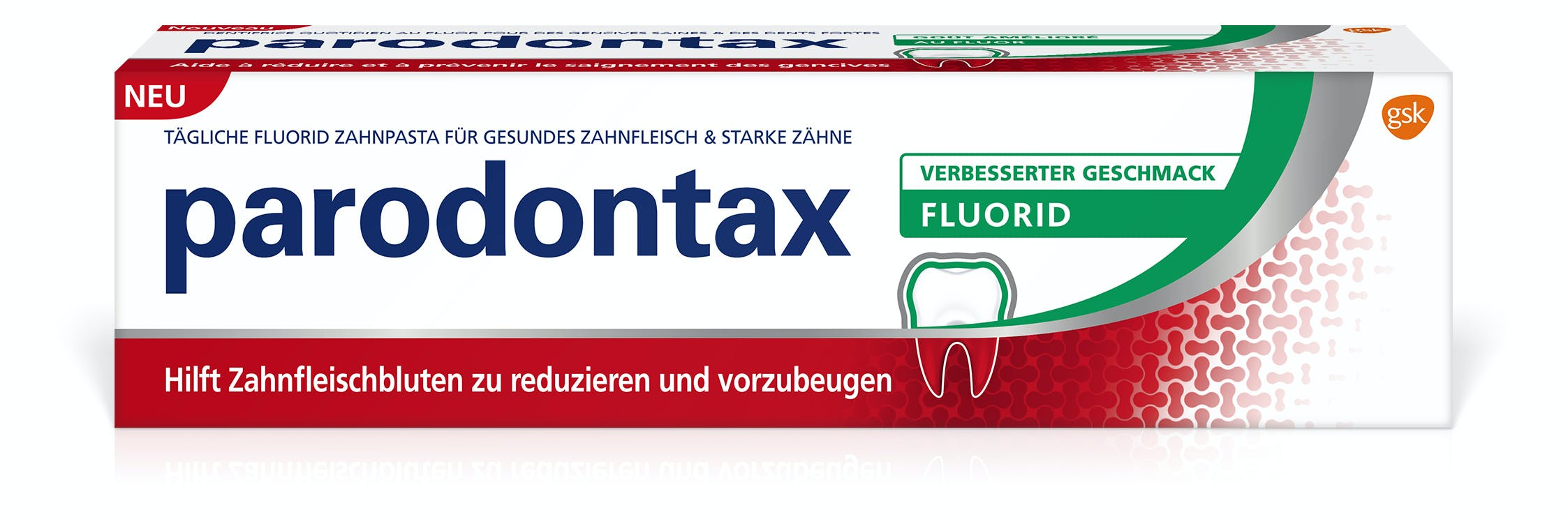 parodontax tägliche Fluorid Zahnpasta