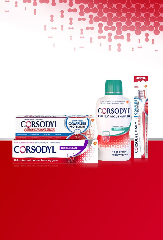 Corsodyl Daily product range