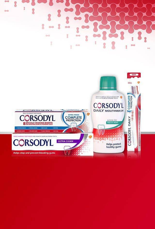Corsodyl Daily product range