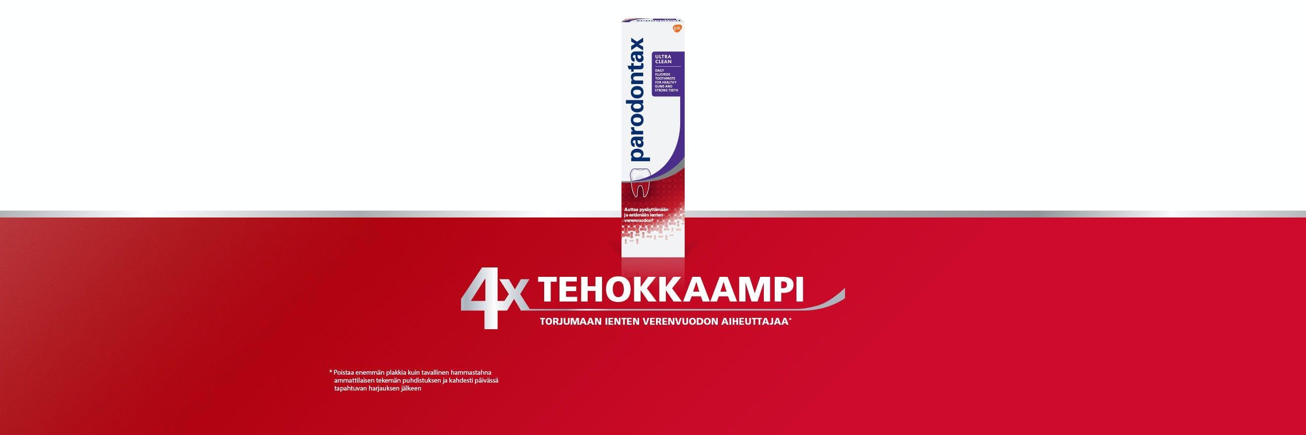Uusi parodontax Daily Ultra Clean -hammastahna