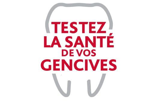 Logo du test parodontax sur la santé des gencives.