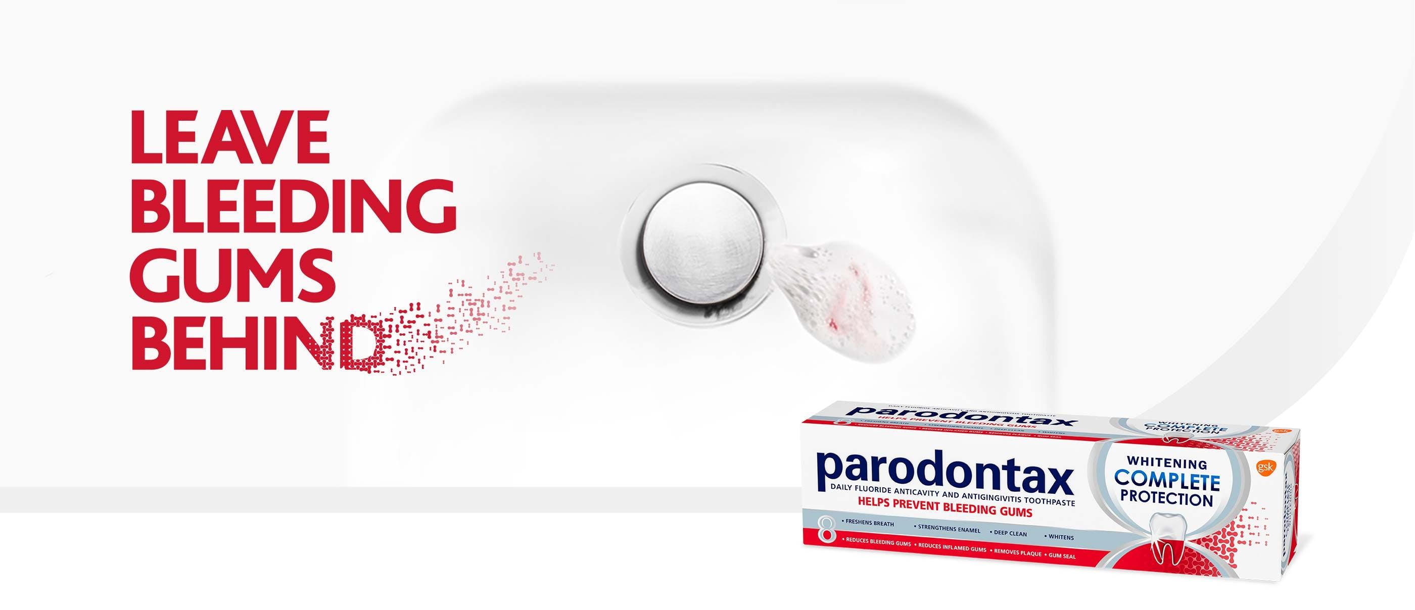 Leave bleeding gums behind with parodontax