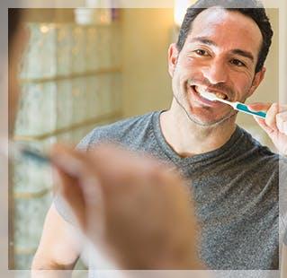 brushing your teeth