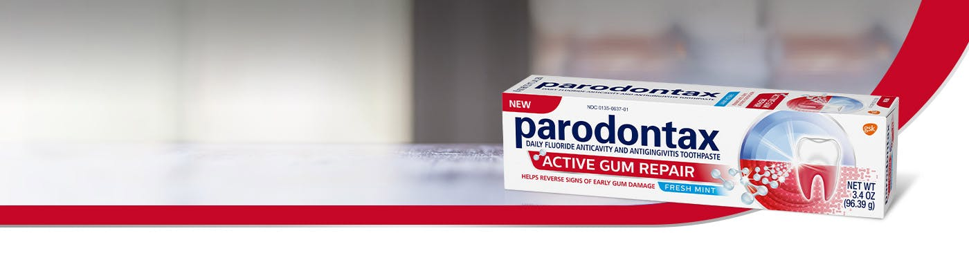 Box of parodontax Complete Protection toothpaste for bleeding gums