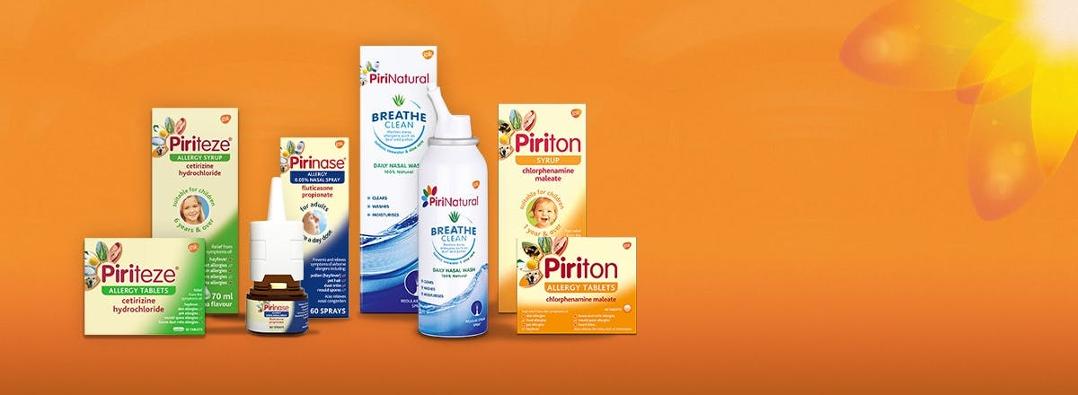 Pirinase, Piriteze, PiriNatural and Piriton products