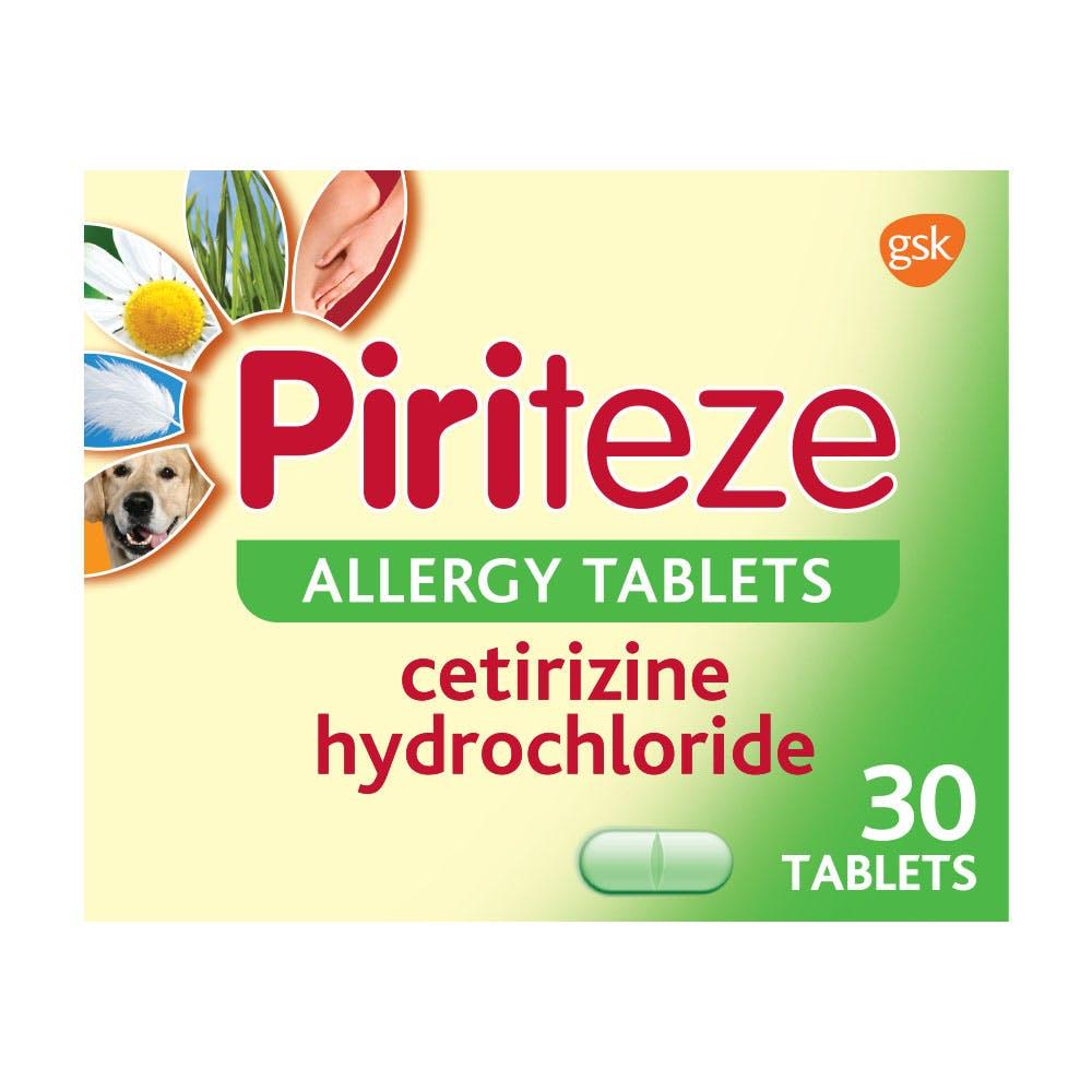 Piriteze Allergy Relief Tablets- 30s