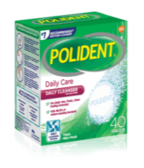 40 Tablet Box of Polident Daily Care Daily Cleanser Triple Mint Fresh Flavour
