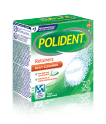 32 Tablet Box of Polident Retainer Daily Cleanser Triple Mint Flavour