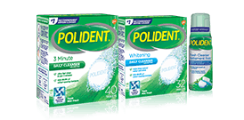 Polident Cleaning product range