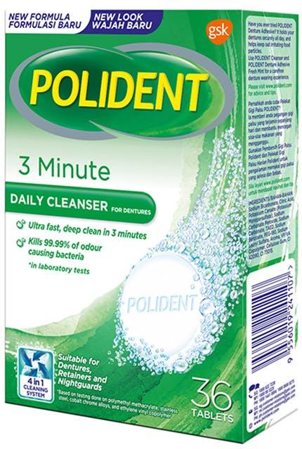 POLIDENT 5-minute express denture cleanser