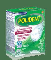 Boîte de 40comprimés Nettoyant quotidien Polident Soins quotidiens Fraîcheur de menthe triple