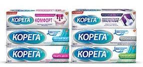 Ссылка на 'Линейка средств для фиксации зубных протезов Корега®'