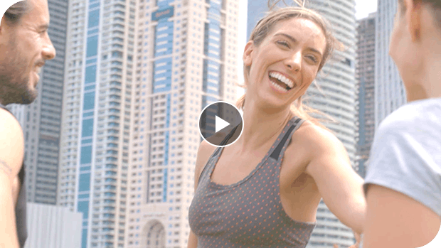 Video of Lilly Sabri discussing the importance of starting your day strong with a smoothie
